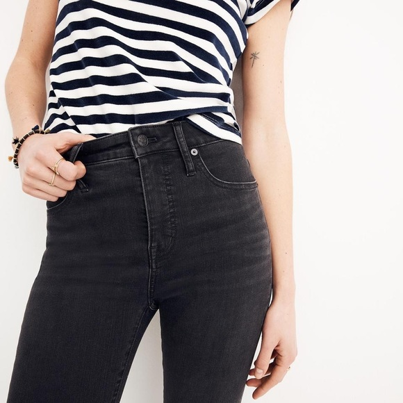 71786f35d997 Madewell Denim - Madewell High Rise Skinny Skinny Jeans Faded Black